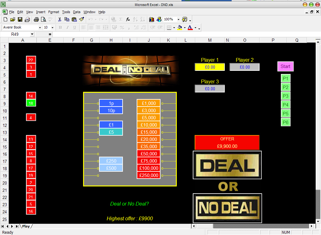deal or no deal login